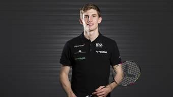 Joel König, Badminton-Spieler, portraitiert im Sportcenter Thalmatt in Herrenschwanden bei Bern am 23. November 2017.