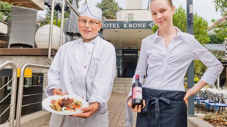 «Go for work» hat Stefan Wildi (links) den Weg zur Kochlehre in der «Krone» geebnet.Efu