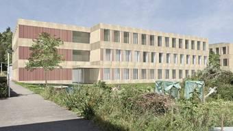 So sollen sich dereinst die beiden Schulbauten der erweiterten Schulanlage Rütihof im Endausbau präsentieren.