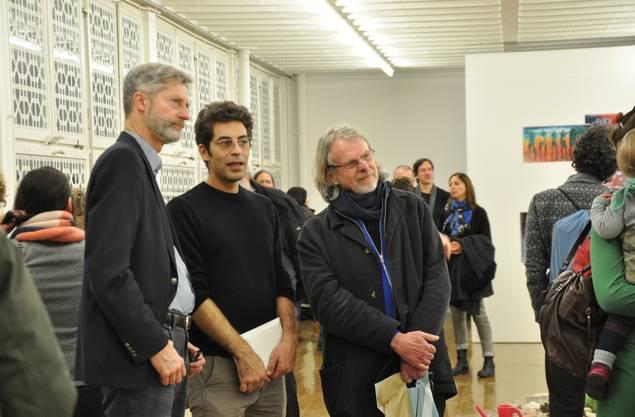 Tschopp nahm sich Zeit allen interessierten Besuchern seine Werke etwas näher zu bringen
