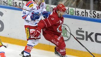 Philippe Schelling (links) wechselt von den Kloten Flyers zu Lausanne