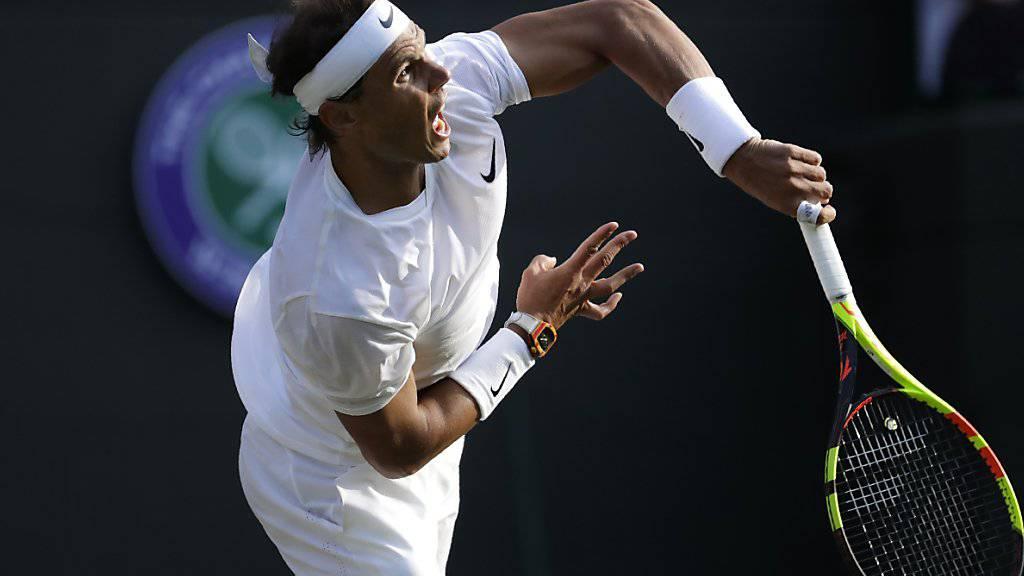 Rafael Nadal schlug in Wimbledon bislang sehr stark auf