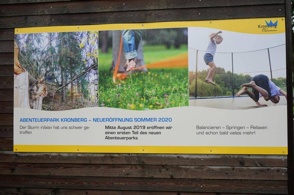 Das ist erst der Anfang: Im Frühjahr 2020 soll hier noch ein viel grösserer Abenteuerpark entstehen. (© FM1Today / Lena Rhyner)