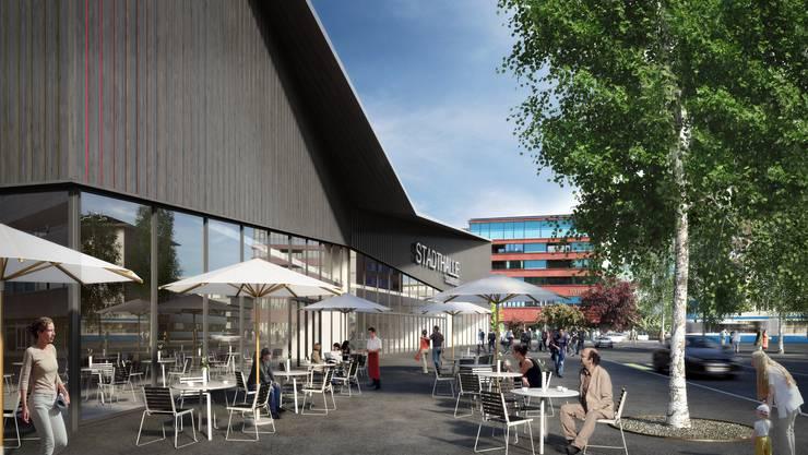 So könnte das Kultur- und Eventzentrum in Schlieren dereinst aussehen (zvg)