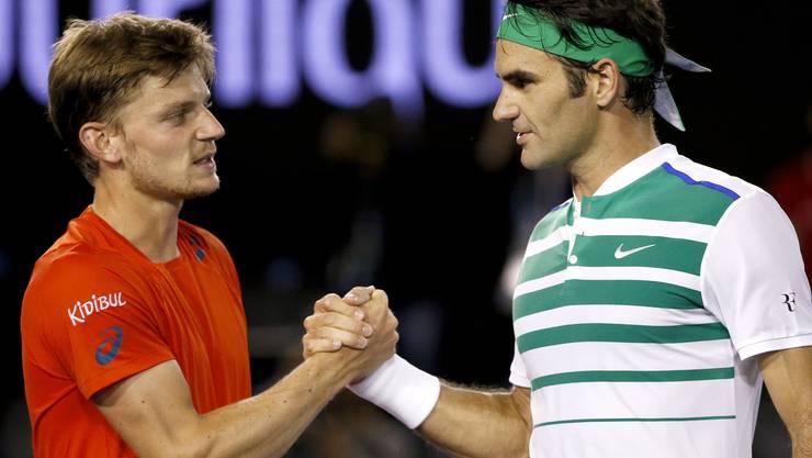 Keine Chance: Roger Federer schlägt den Belgier David Goffin im Eilzugtempo.