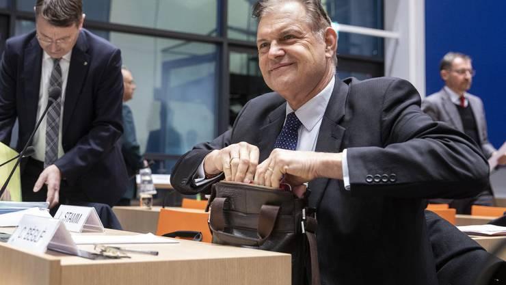 CVP-Nationalrat Claude Béglé an einer öffentlichen Kommissionssitzung im Januar 2019.