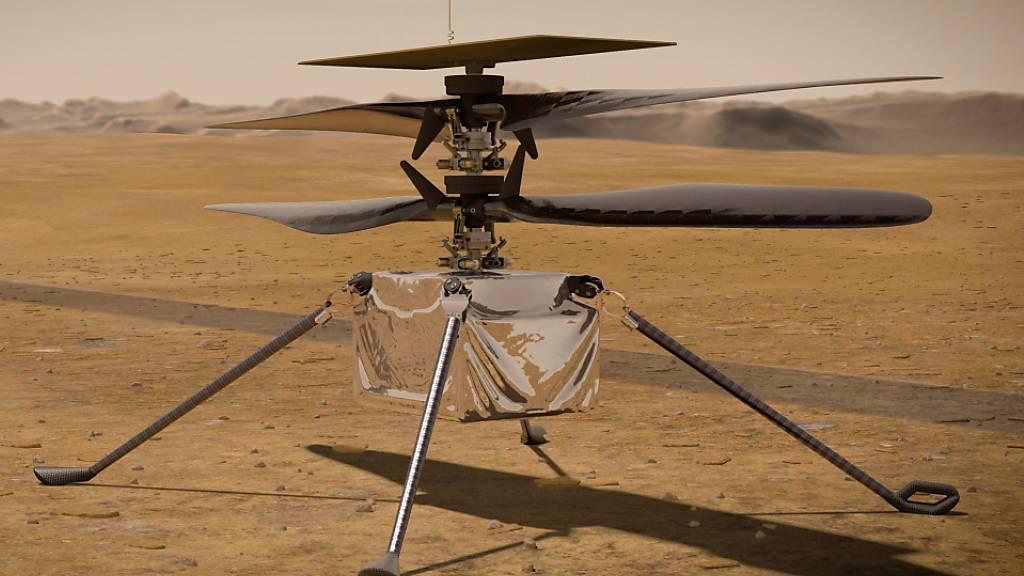 Hubschrauber «Ingenuity» absolviert ersten Flug auf dem Mars