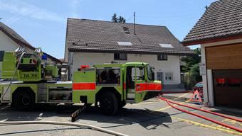 In diesem Haus brach am Mittwochabend im Obergeschoss ein Brand aus.