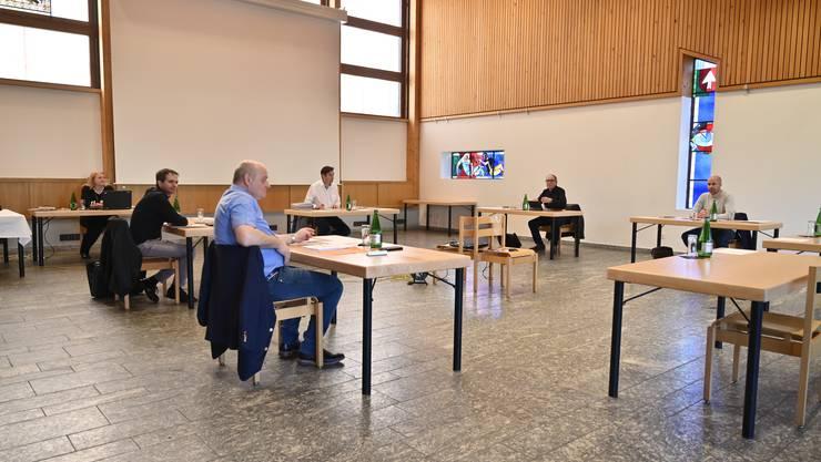 Coronavirus: Gemeinderatskommission Grenchen tagt im Gemeinderatssaal