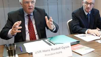 SGFB-Präsident Hans Rudolf Gysin und HEV-Präsident Rudolf Steiner