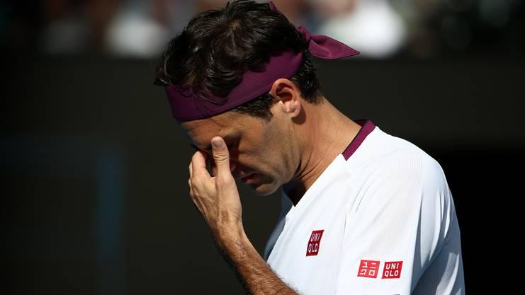 Schmerzhafte Angelegenheit: Bei Federer zwickt die Leiste während der Partie gegen Tennys Sandgren.