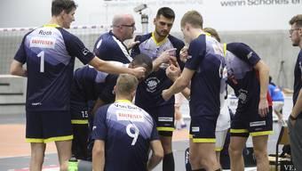 Volley Schönenwerd beim Spitzenkampf vor einem Monat gegen Amriswil