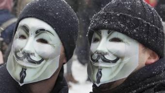 Aktivisten mit Anonymous-Masken (Symbolbild)