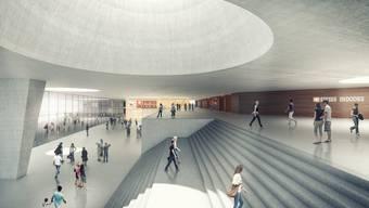 Das neue Foyer der Joggelihalle.