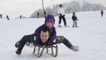 Ski- und Schlittenfreuden auf dem Balmberg