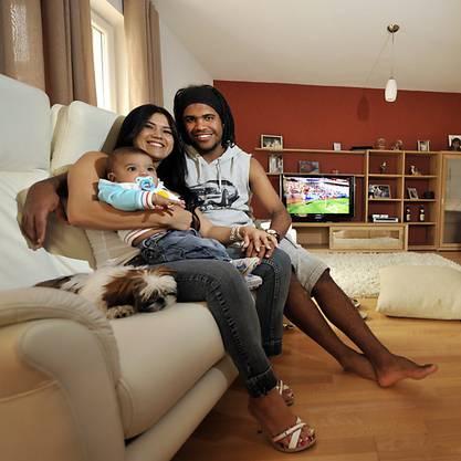 Breno mit Familie in glücklicheren Zeiten.