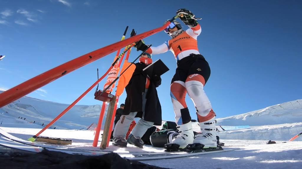 Schweizer Skistars trainieren auf den heimischen Gletschern