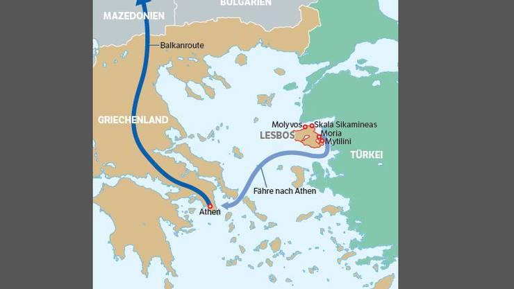 Die Route der Flüchtlinge