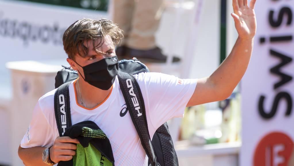 Dominic Stricker verlor im Viertelfinal, hinterliess beim Genfer Publikum aber einen bleibenden Eindruck