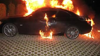 Unterlunkhofen: Gestohlenes Auto wurde von den Dieben in Brand gesetzt