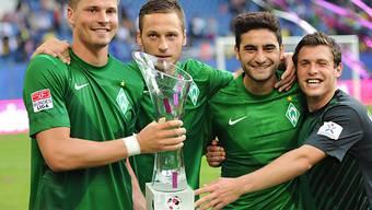 Der erste Titel der Saison geht an Werder Bremen.