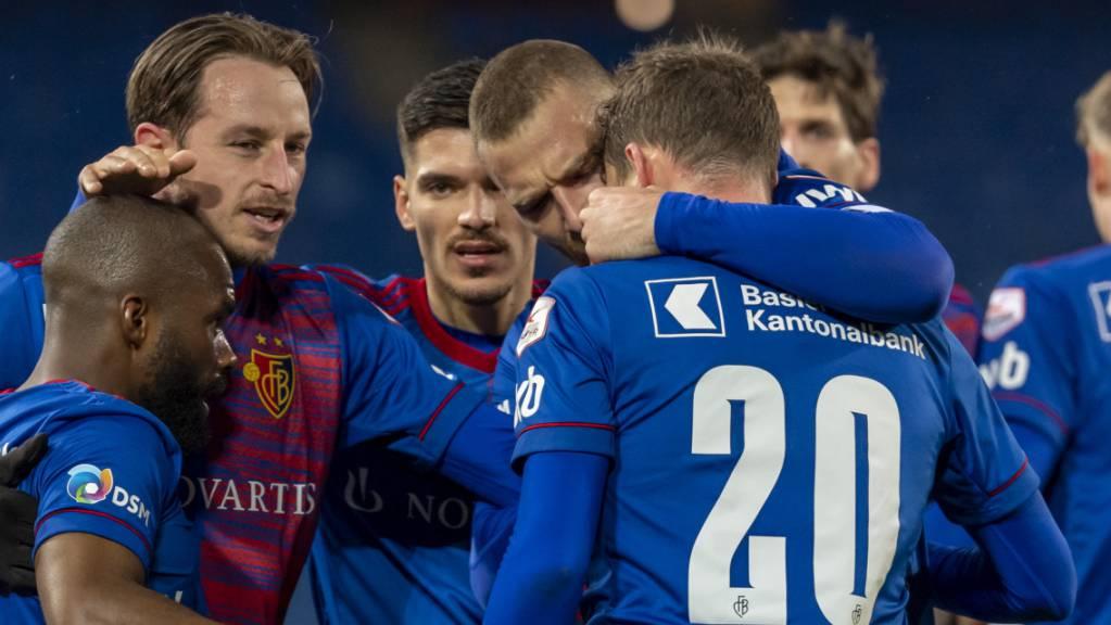 Können die Spieler des FC Basel auch am Samstag in Lugano jubeln?