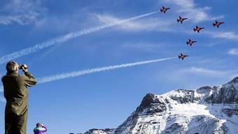 Die Schweizer Luftwaffe hat am Mittwoch auf der Axalp im Berner Oberland ihr Können gezeigt.