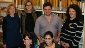 Das Team der Beratungsstelle Pro Infirmis Baden: (v.l., hinten) Stellenleiterin Lisa Schär, Denise Fiala, Stephan Wöhrle, Monika Klarer, (unten) Martina Brogle, Lara Elia Nadja Rohner