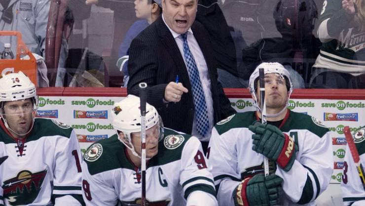 Coachte die Minnesota Wild auch im zweiten Spiel zu seinem Sieg: Trainer John Torchetti