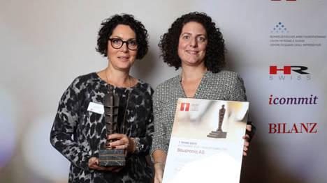 Die strahlenden Gewinner des Swiss Arbeitgeber Award.