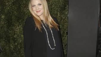 Die hochschwangere Drew Barrymore im Januar 2014 (Archiv)