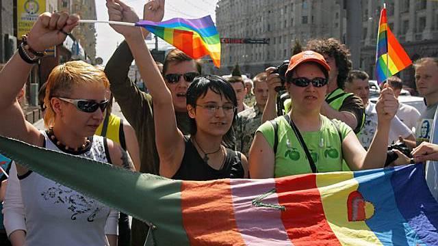 Schwulenparade in Moskau wird nicht geduldet (Archiv)