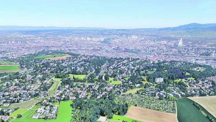 Im schicken Wohnquartier Bruderholz weichen Villen neuen Mehrfamilienhäusern.
