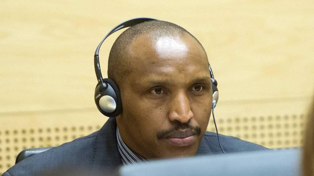 Der ehemalige kongolesische Rebellenchef Bosco Ntaganda vor dem Internationalen Strafgerichtshof in Den Haag. (Archiv)