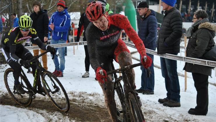 In Dielsdorf fuhr Severin Sägesser (vorne im Bild) am letzten Wochenende an der SM auf den siebten Platz.
