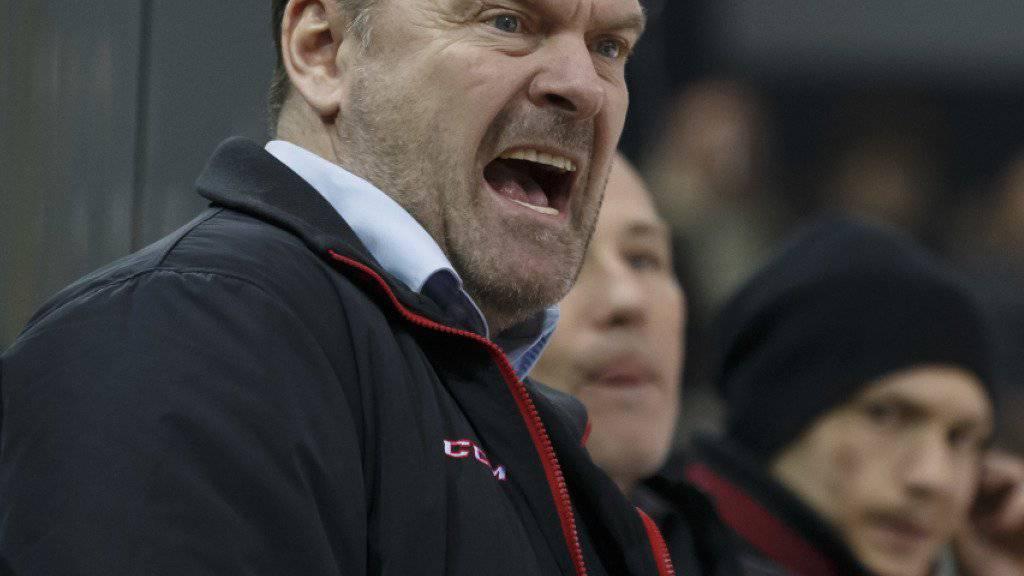 Der Langnauer Trainer Heinz Ehlers musste in der laufenden Saison selten laut werden