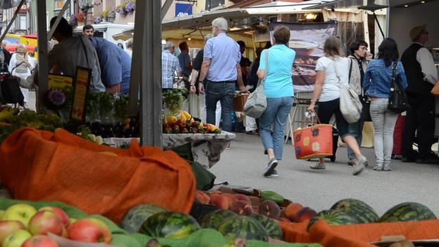 Markttreiben in Rottweil.