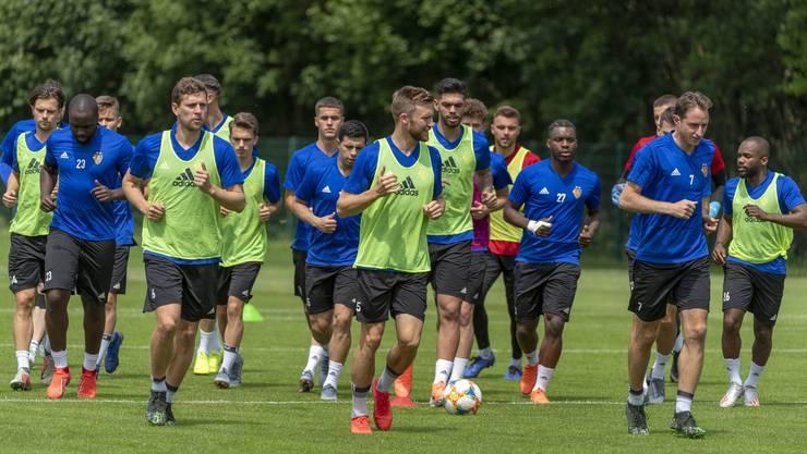 Die Mannschaft beim Trainingsstart.