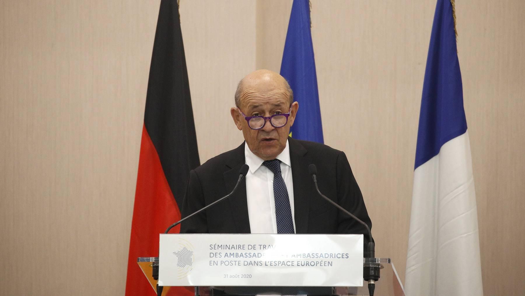 Der französische Aussenminister Jean-Yves Le Drian.