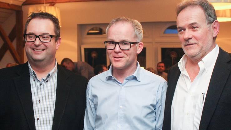Ueli Watzel, Daniel Brunner und Dieter Fierz (von links). wpo