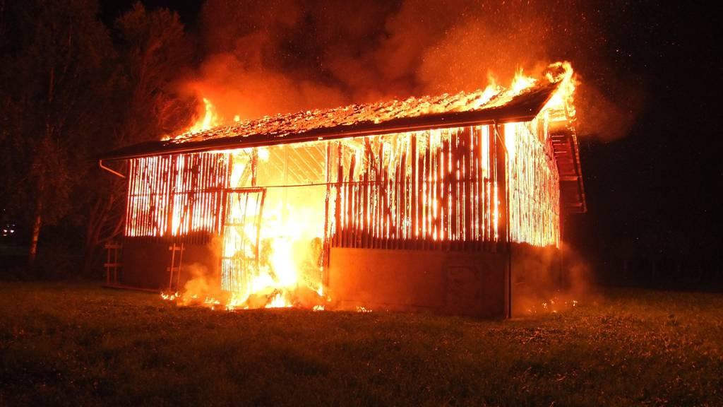 In Marbach brannte eine Scheune