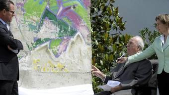 Helmut Kohl und das 2,7 Tonnen schwere Stück der Mauer