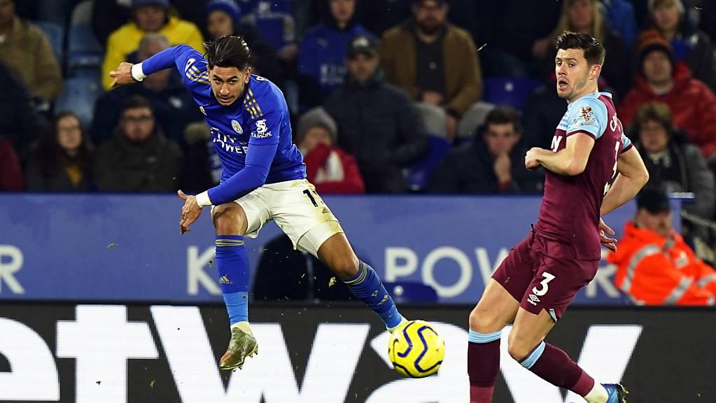 Ayoze Perez (im blauen Dress) zeichnete sich beim 4:1-Sieg von Leicester City zuhause gegen West Ham United als Doppeltorschütze aus.