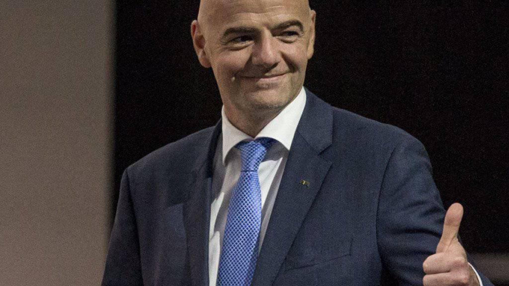 Sprach sich für die Einführung des Video-Beweises aus: FIFA-Präsident Gianni Infantino