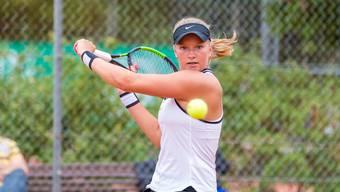 Kann sie ihren Titel verteidigen: Die Aarauerin Dominique Meyer setzte sich letztes Jahr im Endspiel gegen die top gesetzte Chiara Volejnicek mit 7:6, 7:6 durch und konnte so ihren ersten Sieg an der ATM feiern.