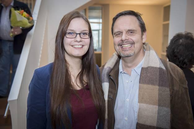 SVP-Gemeinderat Rochus Burtscher ist stolz über die erfolgreiche Wahl seiner Tochter Nadine, die für die EVP in den Gemeinderat einzieht