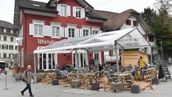 Das Restaurant Gryffe Olten wappnet sich mit Aussenwirtschaft für den Corona-Winter.