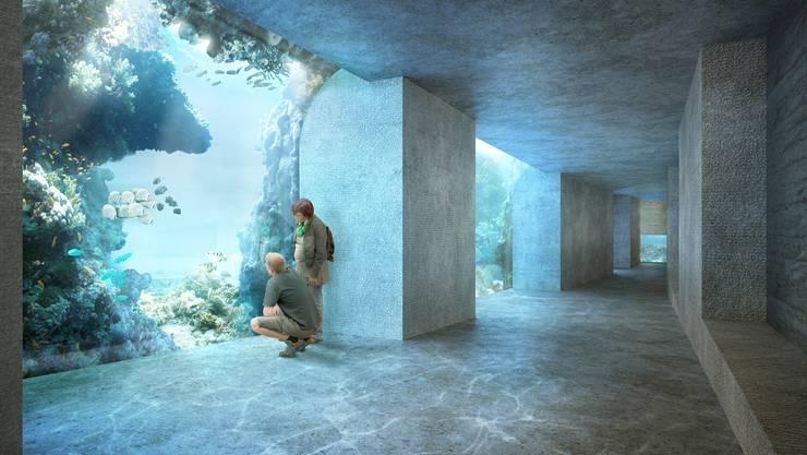 So stellen sich die Architekten das Ozeanium vor.