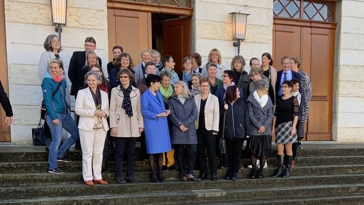 Der Frauenverband frauenaargau hatte zur Aktion aufgerufen.