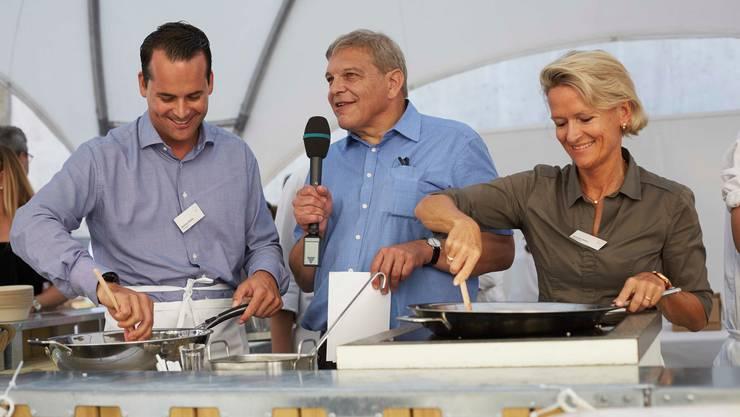 Machen in Luzern eine gemeinsame Kampagne für den Ständerat: Damien Müller (FDP, links) und Andrea Gmür (CVP).